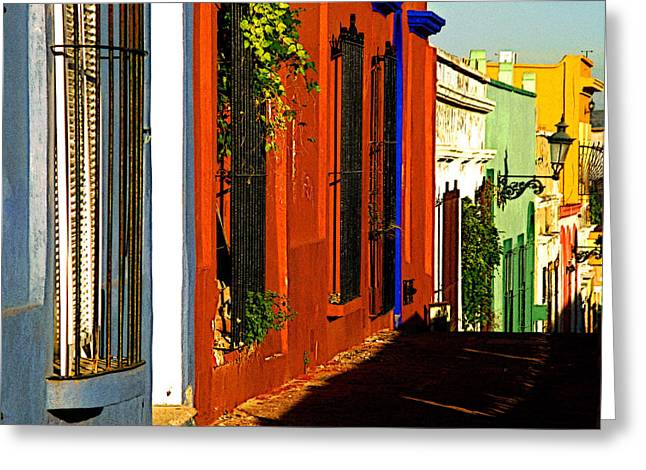 Terracotta House on the Hill Greeting Card by Olden Mexico
