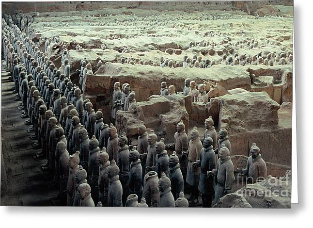 Terracotta Warriors Greeting Card by Ronnie Glover