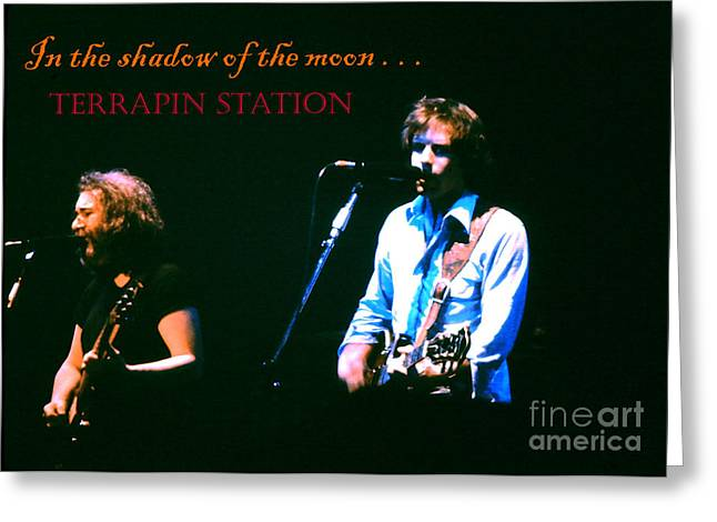 Jerry Garcia Band Greeting Cards - Terrapin Station - Grateful Dead Greeting Card by Susan Carella