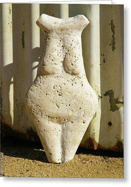 Torso Sculptures Greeting Cards - Terrazzo Torso Greeting Card by Tommy  Urbans
