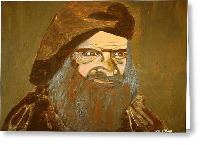 Terrorist Paintings Greeting Cards - Terrorist Greeting Card by Richard Le Page