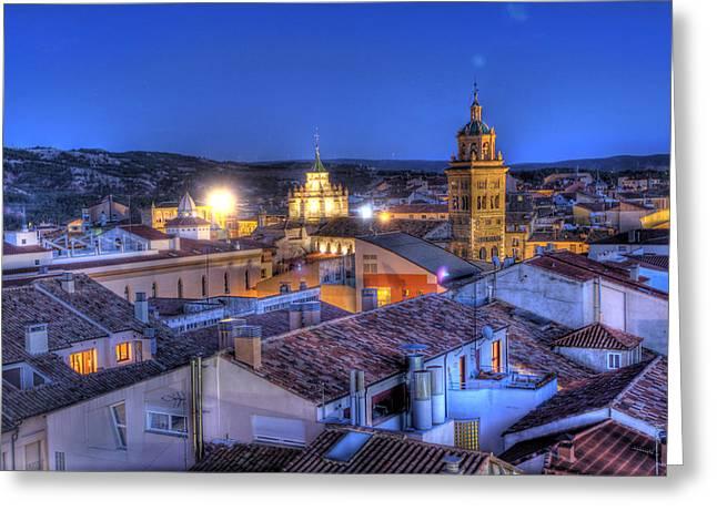 Teruel Greeting Cards - Teruel mudejar 2 Greeting Card by Antonio Garcia