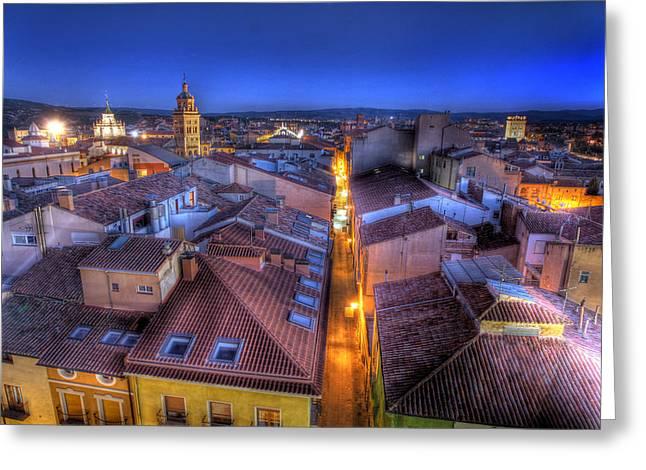 Teruel Greeting Cards - Teruel Mudejar Greeting Card by Antonio Garcia
