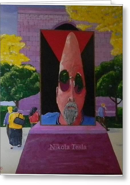 Apathy Greeting Cards - Tesla Returns Greeting Card by Gilbert Bernhardt
