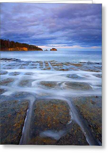 Pavement Greeting Cards - Tesselated Sunset Greeting Card by Mike  Dawson