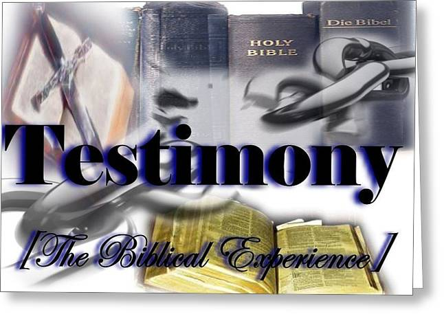 Testimony Greeting Card by AKIMALYAH Publishing