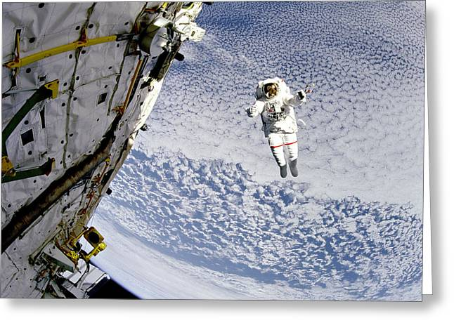 St. Mark Greeting Cards - Testing Safer System During Eva Greeting Card by Nasa