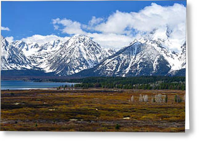 Teton 2012 Panorama Le Greeting Card by Greg Norrell
