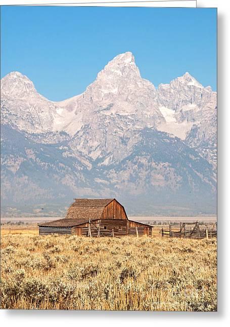 Teton Mormon Barn Greeting Card by Bob and Nancy Kendrick