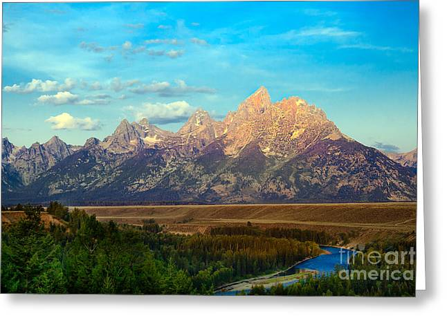 Outlook Greeting Cards - Teton Range at Sunrise Greeting Card by Robert Bales