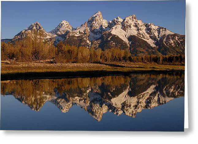 Snow Covered Mountain Greeting Cards - Teton Range, Grand Teton National Park Greeting Card by Pete Oxford
