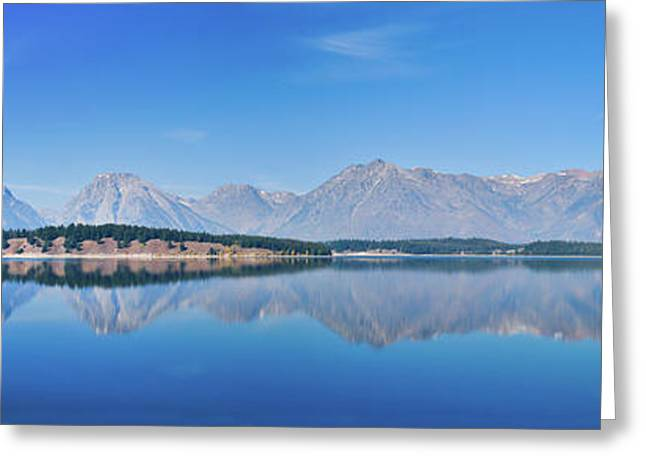 Teton Reflections Greeting Card by Greg Norrell