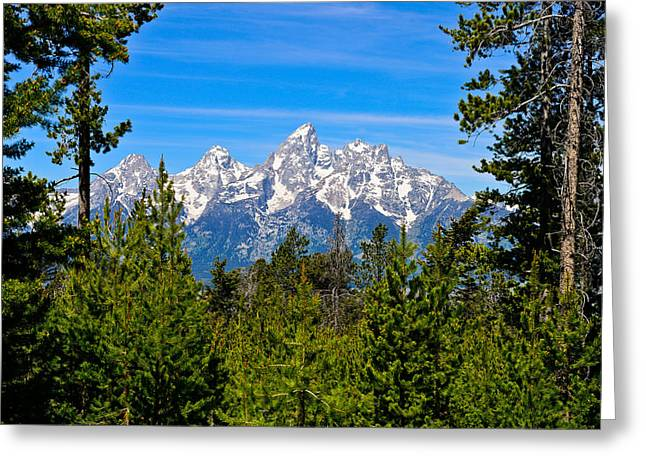 Landscape Photography Greeting Cards - Teton Window Greeting Card by Greg Norrell