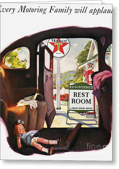 Texaco Advertisement, 1938 Greeting Card by Granger