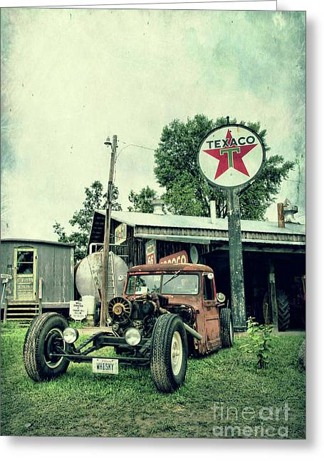 Texaco Sign Greeting Cards - Texaco Greeting Card by Joel Witmeyer