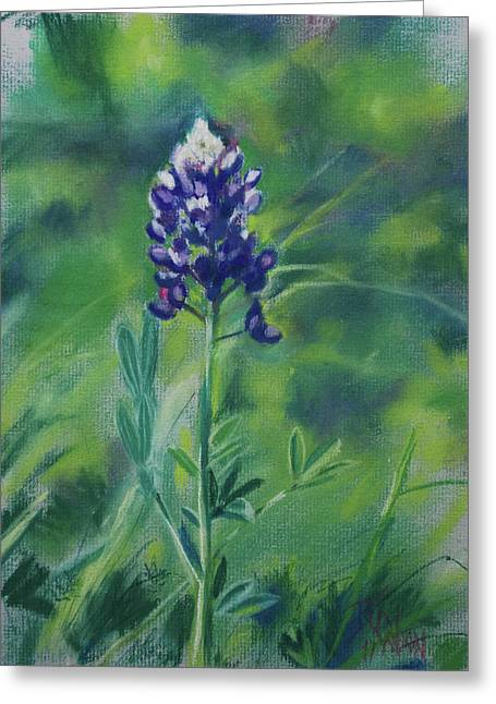 Blue Pastels Greeting Cards - Texas Beauty Greeting Card by Billie Colson