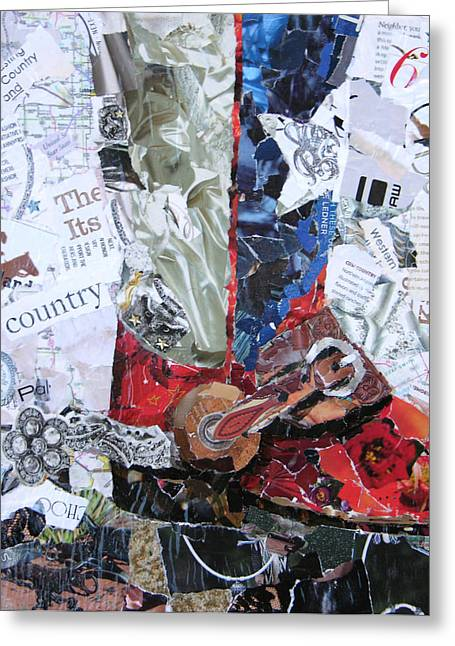 Torn Paintings Greeting Cards - Texas Boot Greeting Card by Suzy Pal Powell