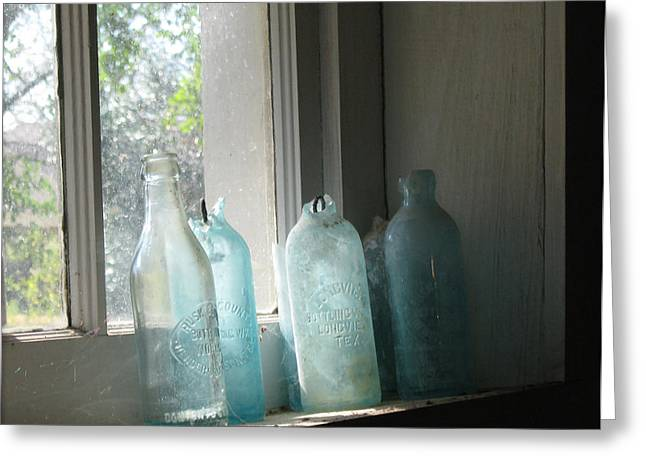 Texas Bottles Greeting Card by Michelle Wolff