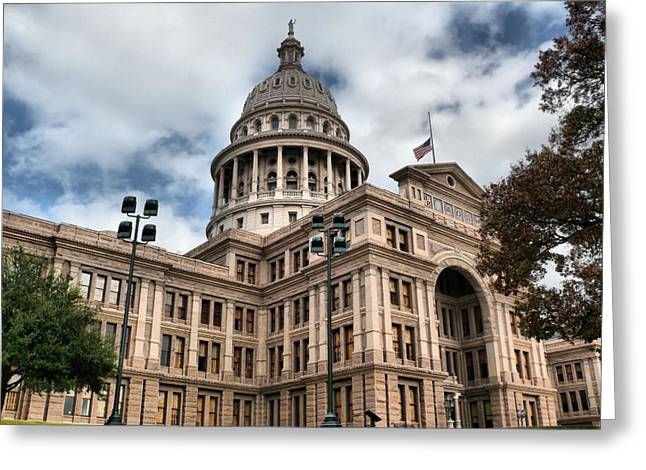 Austin Architecture Greeting Cards - Texas Capital  Greeting Card by Arthur Herold Jr