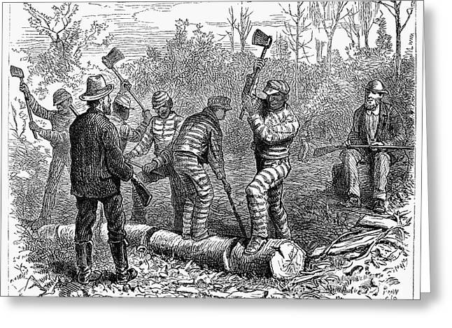 Chain Gang Greeting Cards - Texas: Chain Gang, 1874 Greeting Card by Granger