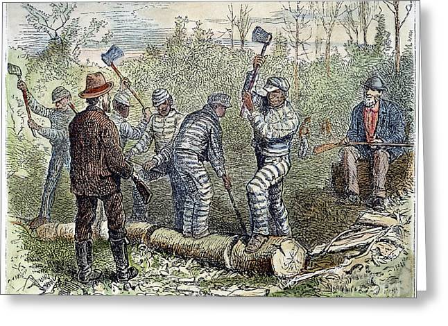 Chain Gang Greeting Cards - TEXAS CHAIN GANG, c1874 Greeting Card by Granger