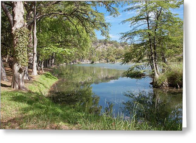 Wimberley Greeting Cards - Texas Hill Country River Greeting Card by James Woody
