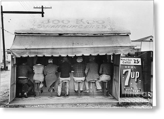 Lunch Box Greeting Cards - Texas: Luncheonette, 1939 Greeting Card by Granger