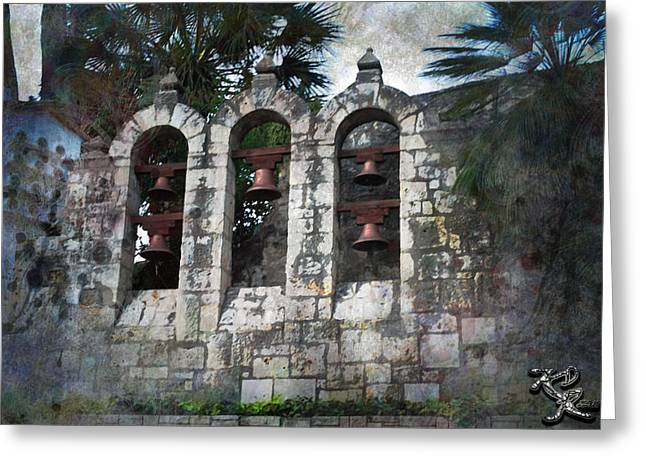 Kelly Digital Art Greeting Cards - Texas Missions  Greeting Card by Kelly Rader