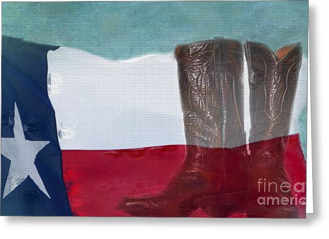 Texas Boots Greeting Cards - Texas Pride Greeting Card by Betty LaRue