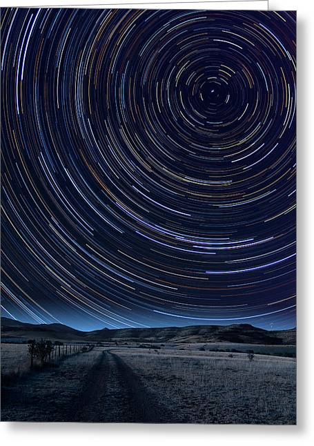 Outerspace Greeting Cards - Texas Star Trails Greeting Card by Larry Landolfi