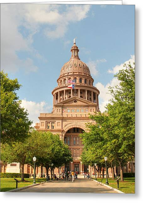 Goddess Of Liberty Greeting Cards - Texas State Capitol Building in Austin  II Greeting Card by Sarah Broadmeadow-Thomas