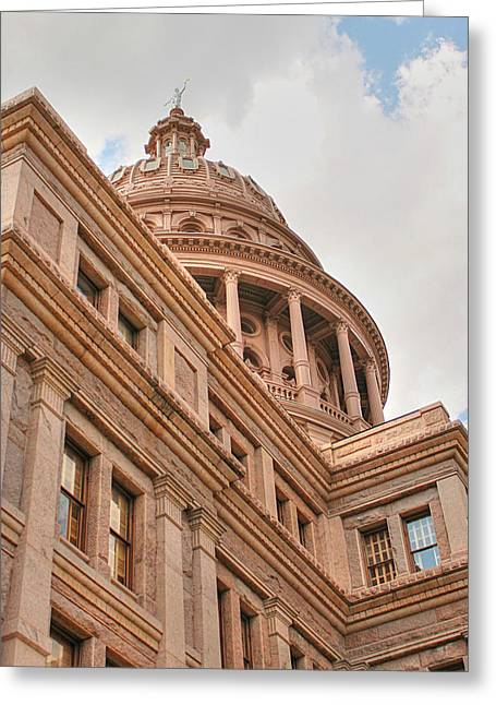 Goddess Of Liberty Greeting Cards - Texas State Capitol Building in Austin III Greeting Card by Sarah Broadmeadow-Thomas