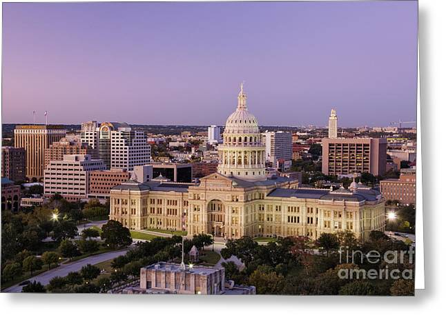 Office Space Greeting Cards - Texas State Capitol Greeting Card by Jeremy Woodhouse