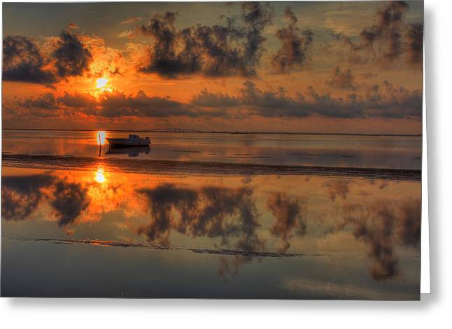 Kevin Hill Greeting Cards - Texas Sunset Gulf of Mexico Greeting Card by Kevin Hill