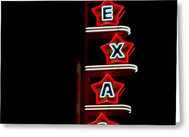 Texas Theater Greeting Card by Kitty Geno