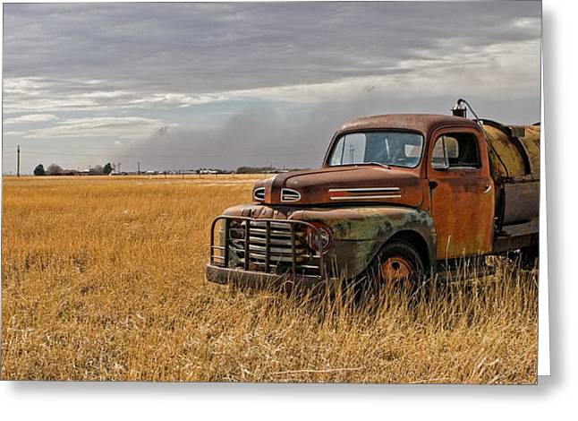 Travel Truck Greeting Cards - Texas Truck WS Greeting Card by Peter Tellone