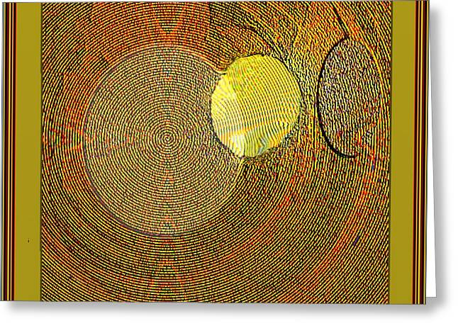 Abstract Digital Paintings Greeting Cards - Textural 173 Greeting Card by Nedunseralathan R