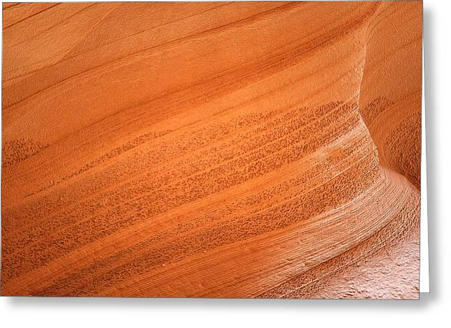 Carved Greeting Cards - Texture and Light - Antelope Canyon Greeting Card by Christine Till