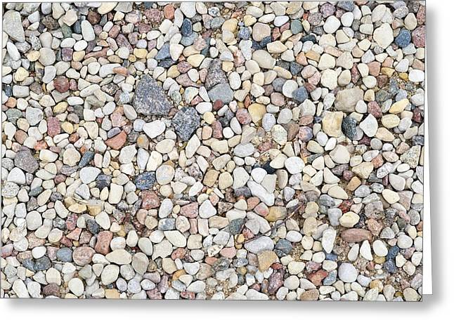 Sand Patterns Greeting Cards - Texture  from small stones  Greeting Card by Aleksandr Volkov