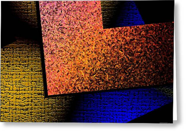 Transparency Geometric Greeting Cards - Textured Abstract Geometry Greeting Card by Mario  Perez