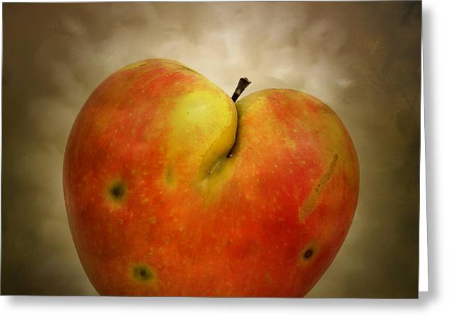 Inboard Greeting Cards - Textured Apple Greeting Card by Bernard Jaubert