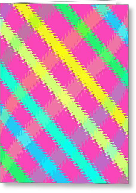 Bold Style Greeting Cards - Textured Check Greeting Card by Louisa Knight