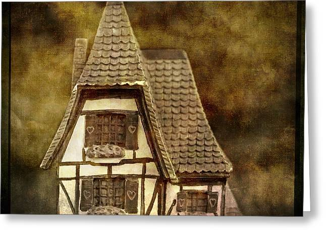 Miniature Effect Greeting Cards - Textured house Greeting Card by Bernard Jaubert
