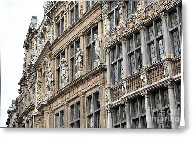 Textures Of Brussels Greeting Card by Carol Groenen