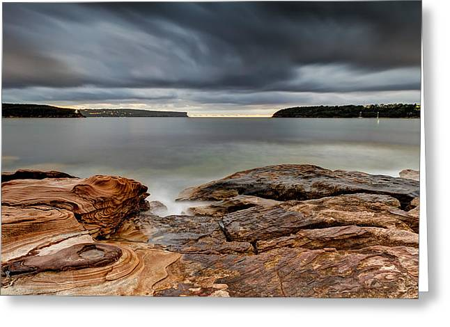 Textures Of Land And Sky Greeting Card by Mark Lucey