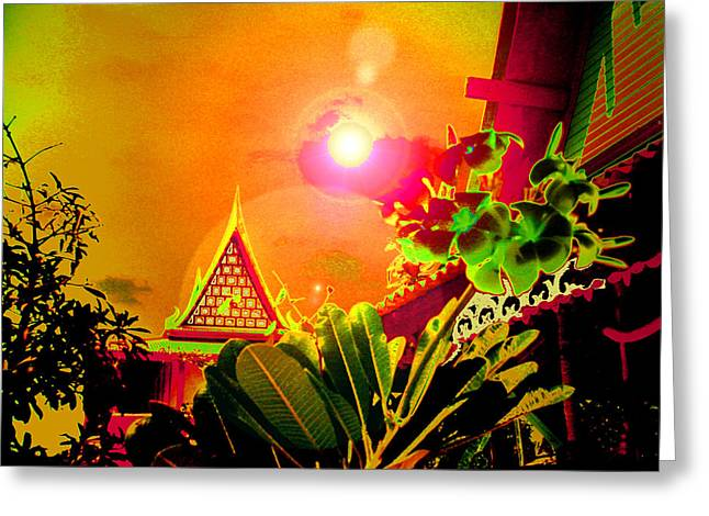 Svadhisthana Greeting Cards - Thai Greeting Card by Ramon Labusch