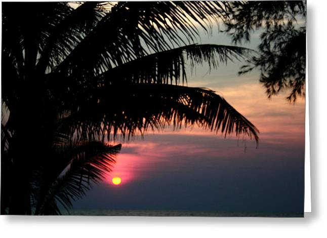 Abstract Water And Fall Leaves Greeting Cards - Thai Sunset on Koh Kut 1 Greeting Card by Jennifer  Bright