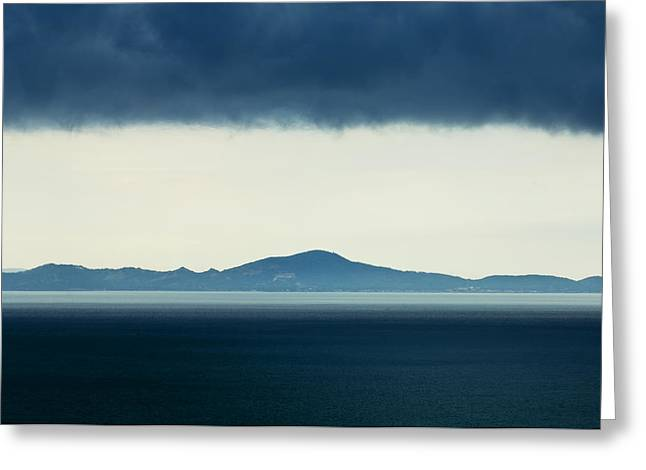 Larned Greeting Cards - Thailand Monsoon clouds over island Greeting Card by Ingo Jezierski
