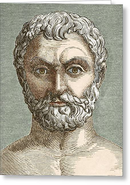 Surname T Greeting Cards - Thales, Ancient Greek Philosopher Greeting Card by Sheila Terry