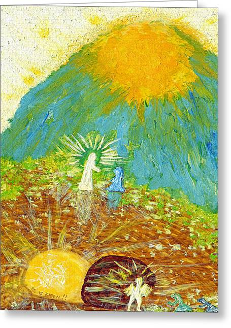 Art By Carl Deaville Greeting Cards - Thank  God  For  Easter  Sunday Greeting Card by Carl Deaville